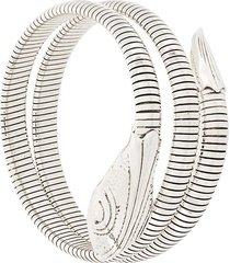 gas bijoux serpent ribbed bracelet - metallic