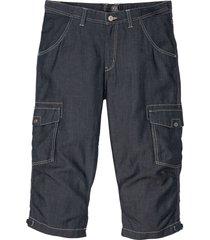 bermuda in jeans con lino (blu) - bpc selection