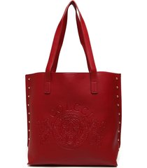 bolsa sacola colcci tachas vermelha