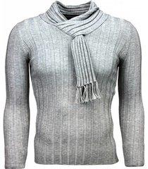 trui justing sjaalkraag strepen motief licht