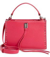 rebecca minkoff darren small zip top handle leather satchel - pink