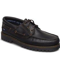 rough 3-eye lth marstrand sko båtskor skor svart marstrand