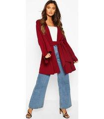 tie waist midi kimono, wine