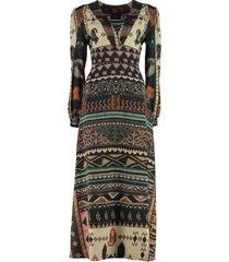 etro printed maxi dress