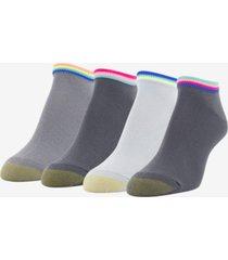 goldtoe women's 4 pack racer stripe liner socks