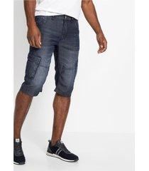 duurzame regular fit jeans bermuda met tencel™ en linnen