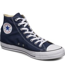 all star hi red höga sneakers blå converse