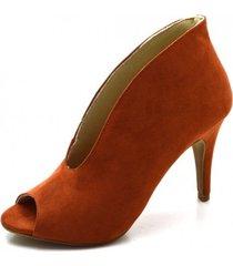 bota open boot fandarello ferrrugem laranja