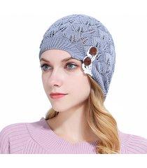 cappellino a maglia con cappuccio in cotone a maniche con cappuccio da donna casual calotta in lana calda