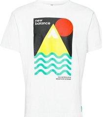 athletics trail revel t-shirt t-shirts short-sleeved vit new balance