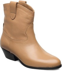 awa shoes boots ankle boots ankle boot - heel beige jennie-ellen