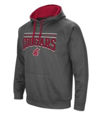 colosseum washington state cougars men's poly performance hooded sweatshirt
