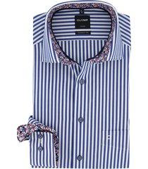 gestreept overhemd olymp luxor modern fit blauw