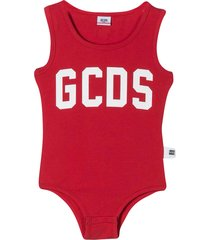 gcds mini red bodysuit