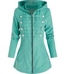 hooded buckle detail vintage jacket