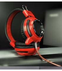 audífono diadema gamer jd-v1 rojo