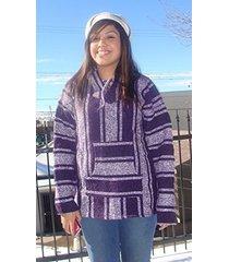 new baja hoodie original mexican drug rug 100% recycled fibers jacket