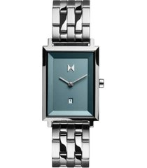 mvmt women's signature square skylar stainless steel bracelet watch 24mm