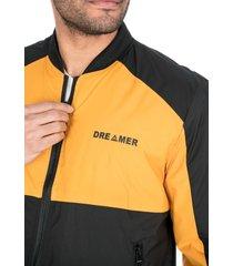 chaqueta para hombre doble combinación negro amarillo dreamer