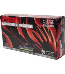 adenna night angel 4 mil nitrile powder free exam gloves (black, x-large)