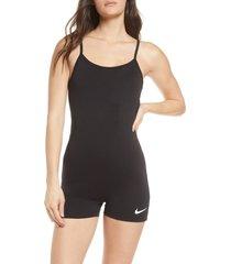 women's nike indio one-piece swimsuit, size medium - black