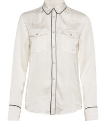 lmc western smiley top pristin overhemd met lange mouwen wit levi's made & crafted