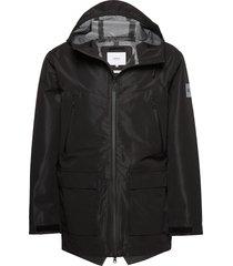 3l shelter jacket dun jack zwart makia