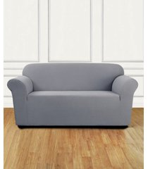 sure fit stretch delicate leaf one-piece loveseat slipcover