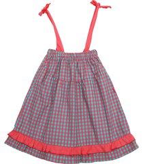 vestido multicolor cantepido straplees cuadrillé