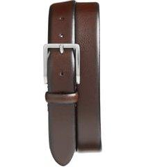 men's johnston & murphy leather belt, size 42 - brown