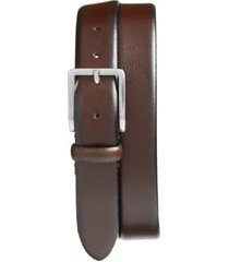 men's johnston & murphy leather belt, size 42 - brown