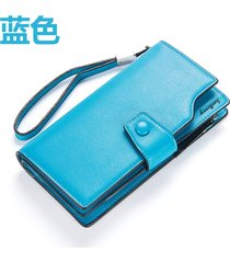 gran capacidad cartera para mujer/ long ladies wallet-azul