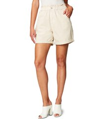 blanknyc elastic waist cotton poplin shorts, size 27 in buttered rum at nordstrom
