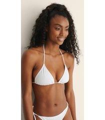na-kd swimwear trekantsbikini-topp - white