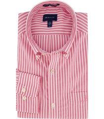 gestreept overhemd gant roze wit