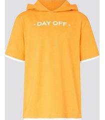 t-shirt med luva - orange