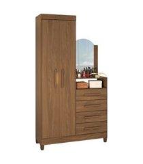 guarda roupa/comoda capri 2 portas canela albatroz marrom