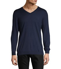 v-neck long-sleeve wool top