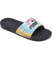 puma women's cool cat tie dye slide sandals from finish line
