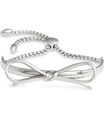 knotty bow bracelet in rhodium silver at nordstrom