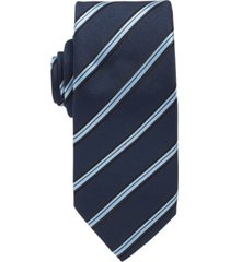 boss men's diagonally striped tie