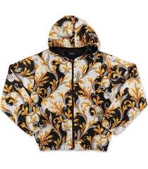barokprint nylon vest met hoodie