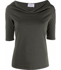 snobby sheep cowl-neck fitted top - green