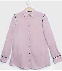 blusa ash lisa rosa - calce regular