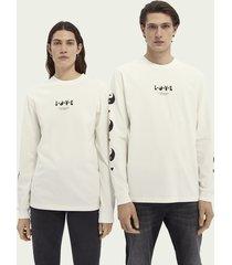 scotch & soda born to love unisex organic cotton long-sleeved t-shirt