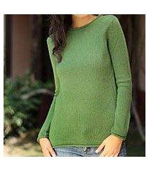 100% alpaca sweater, 'winter lime' (peru)
