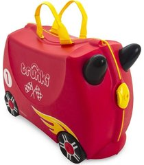 mala infantil trunki - carro de corrida - sua viagem muito mais divertida vermelho
