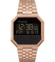 nixon rerun digital bracelet watch, 39mm in rose gold at nordstrom