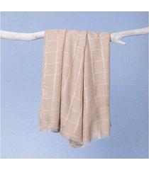 lenço lucimara cor: cáqui - tamanho: único