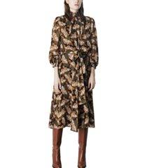 marella butterfly tie-waist midi dress